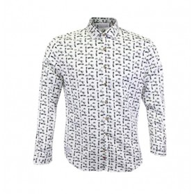 Camisa M/L  A Fish Named Fred Estampado
