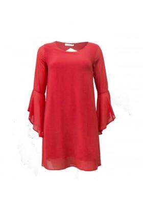 Vestido coral Fracomina